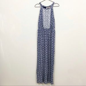 Skies are Blue Embroidered Maxi Dress